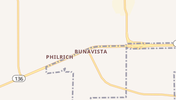 Bunavista, Texas map
