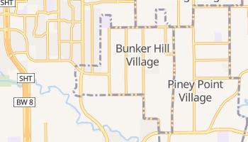 Bunker Hill Village, Texas map