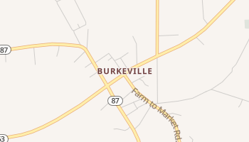 Burkeville, Texas map