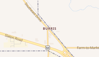 Burris, Texas map