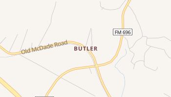 Butler, Texas map