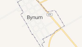 Bynum, Texas map