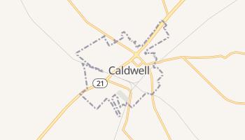 Caldwell, Texas map
