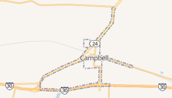 Campbell, Texas map