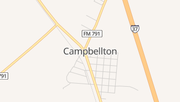 Campbellton, Texas map