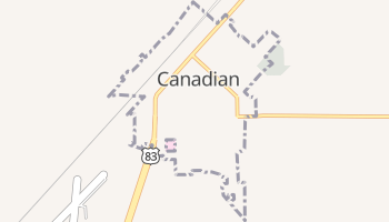 Canadian, Texas map