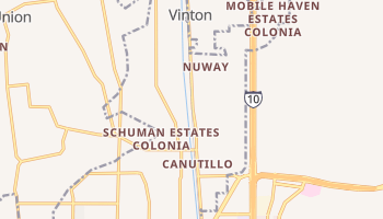 Canutillo, Texas map
