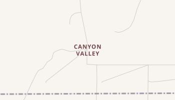 Canyon Valley, Texas map