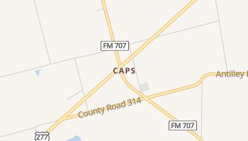 Caps, Texas map