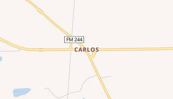Carlos, Texas map