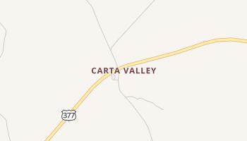 Carta Valley, Texas map