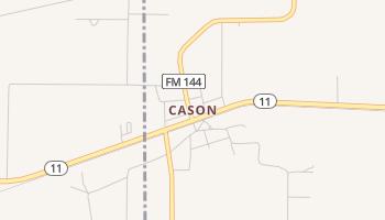 Cason, Texas map