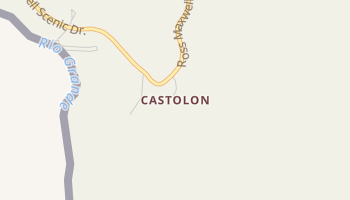 Castolon, Texas map
