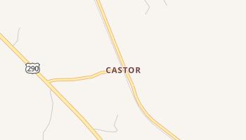 Castor, Texas map
