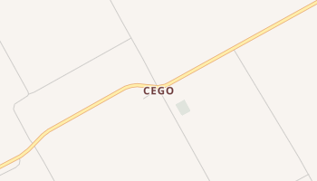 Cego, Texas map