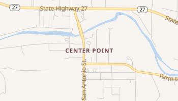 Center Point, Texas map