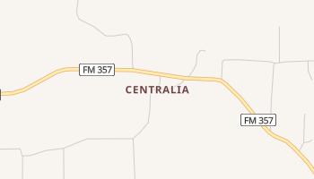 Centralia, Texas map