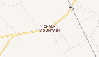 Chalk Mountain, Texas map