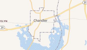 Chandler, Texas map