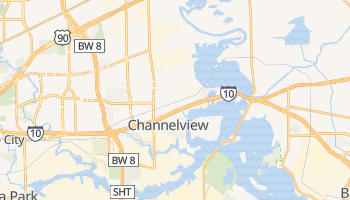 Channelview, Texas map