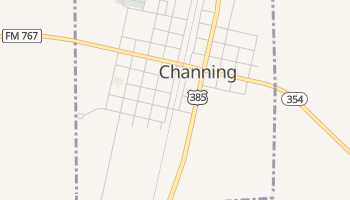 Channing, Texas map