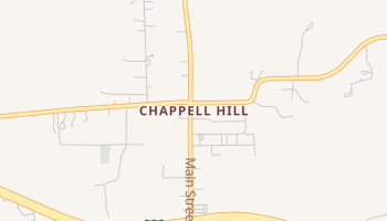 Chappell Hill, Texas map