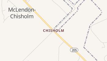 Chisholm, Texas map