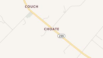 Choate, Texas map