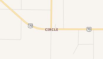 Circle, Texas map