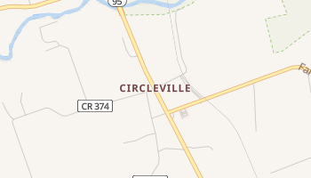 Circleville, Texas map