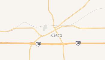 Cisco, Texas map