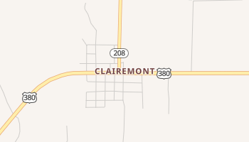 Clairemont, Texas map