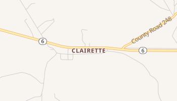 Clairette, Texas map