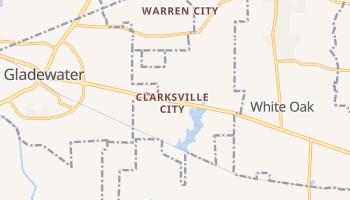 Clarksville City, Texas map