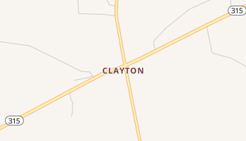 Clayton, Texas map
