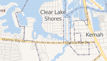 Clear Lake Shores, Texas map