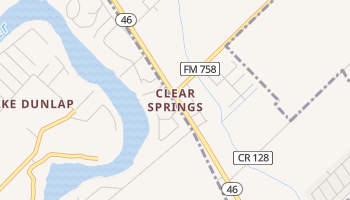 Clear Springs, Texas map