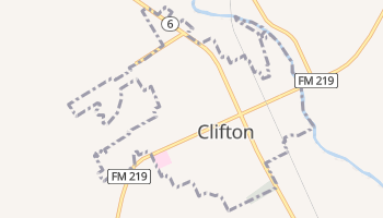Clifton, Texas map