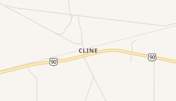 Cline, Texas map