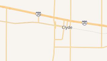 Clyde, Texas map