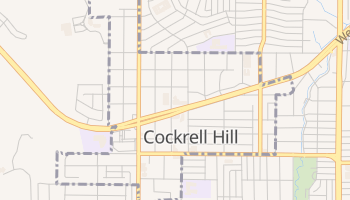 Cockrell Hill, Texas map