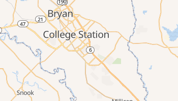 College Station, Texas map