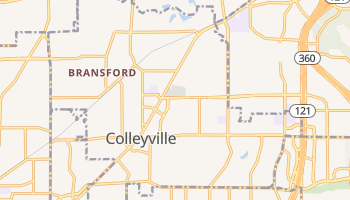 Colleyville, Texas map