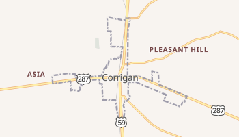 Corrigan, Texas map