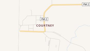 Courtney, Texas map