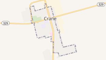 Crane, Texas map