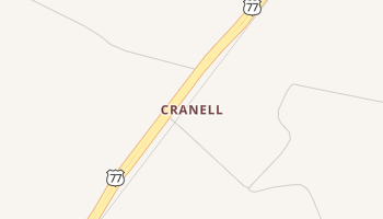 Cranell, Texas map