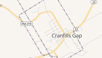 Cranfills Gap, Texas map