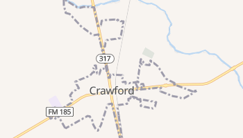 Crawford, Texas map