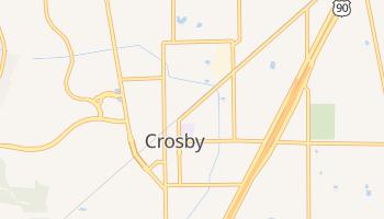 Crosby, Texas map